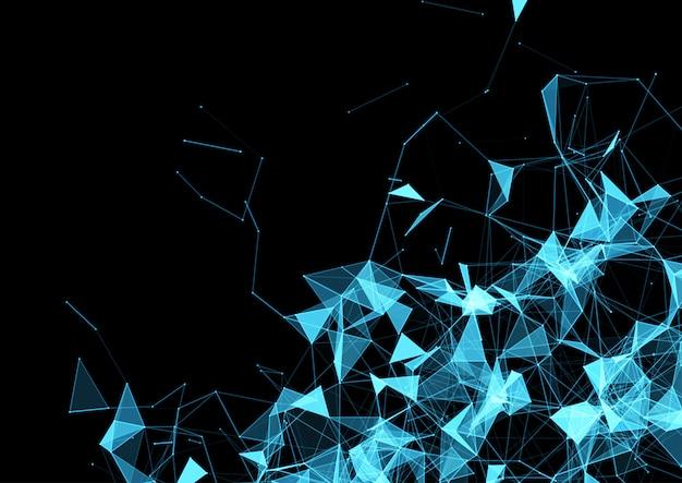 Projekt tła połączeń sieciowych