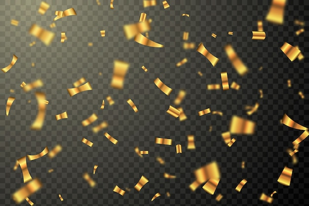 Projekt tła realistyczne konfetti