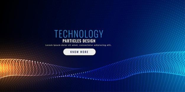 Projekt tła siatki cząstek technologii