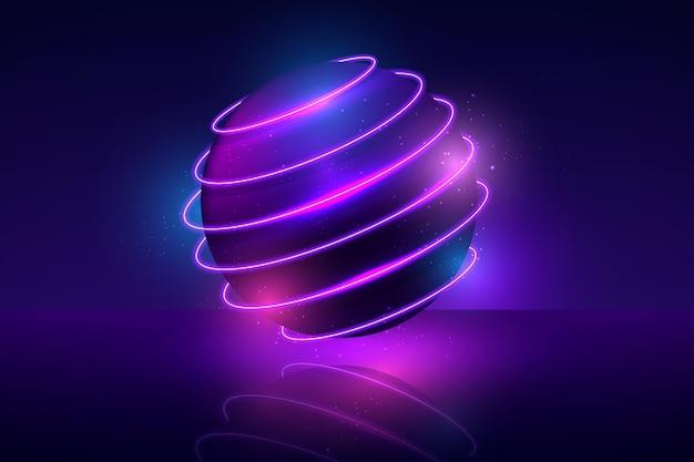 Projekt tła światła neonowe