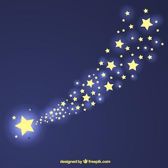 Projekt tła szlak błyszczące gwiazdy