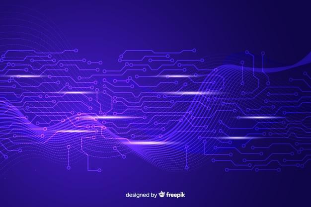 Projekt tła technologii