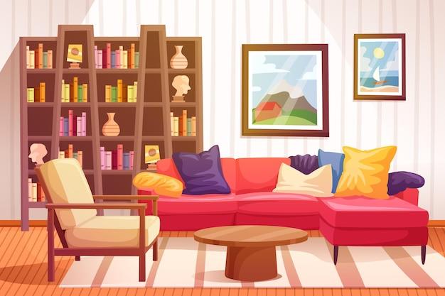 Projekt tła wnętrza domu