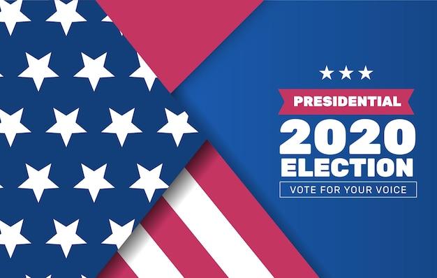 Projekt tła wyborów prezydenckich w usa w 2020 r