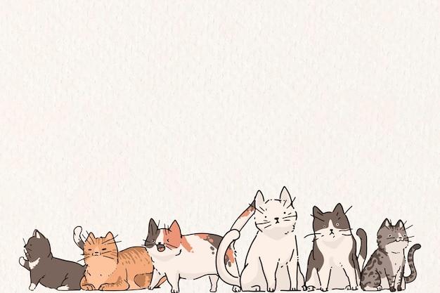 Projekt tła wzór miłośnika kotów