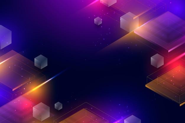 Projekt tła z efektem neonowym