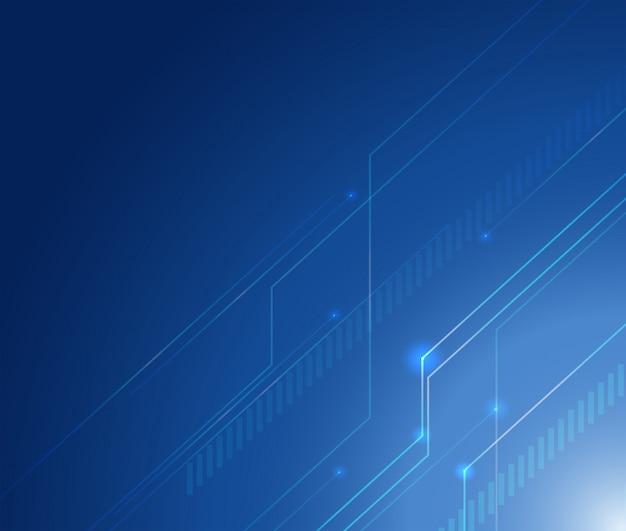 Projekt tła z liniami na niebieskim tle