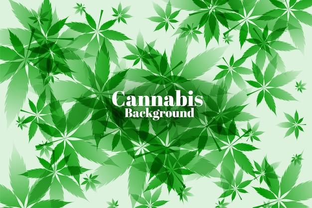 Projekt tła zielonych liści marihuany