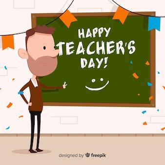 Projekt tło dzień nauczycieli współczesnego świata