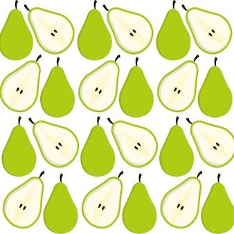 Projekt tło owoców gruszki
