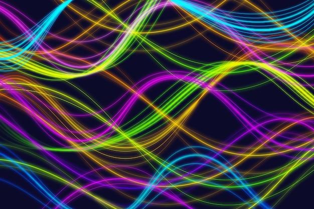 Projekt tło światła neonowe