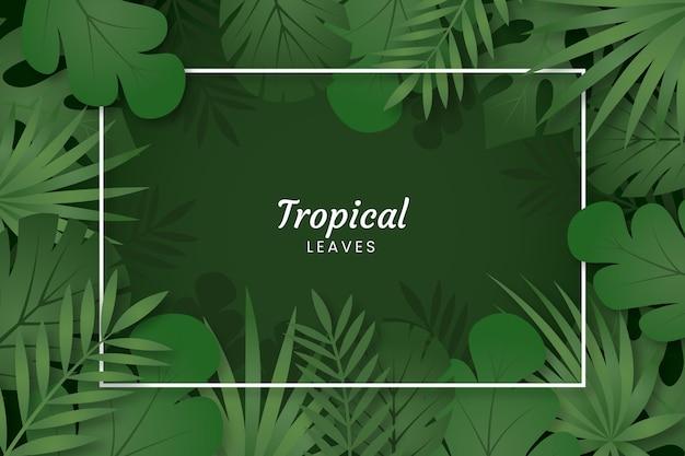 Projekt tło tropikalny liści