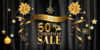 Projekt transparent świąteczna sprzedaż plakatu