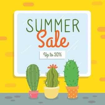 Projekt transparent sprzedaż lato z elementami doodle