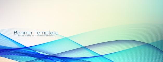 Projekt transparent streszczenie ozdobny niebieski fala