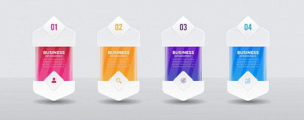 Projekt transparentu biznesowego infografiki