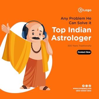 Projekt transparentu czołowego indyjskiego astrologa