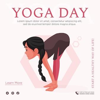 Projekt transparentu dotyczący rozpoczęcia zdrowego stylu życia z jogą