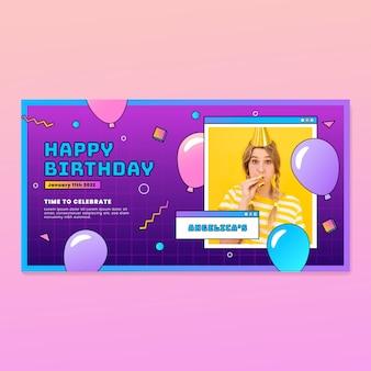 Projekt transparentu gradientowego z okazji urodzin