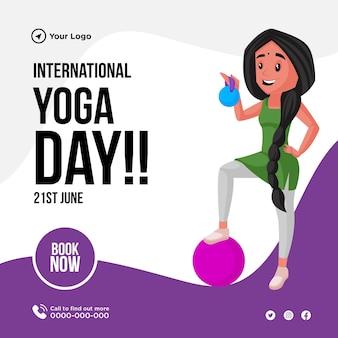 Projekt transparentu międzynarodowego dnia jogi