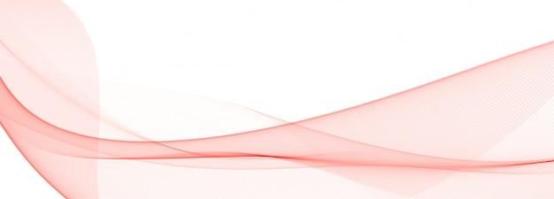 Projekt transparentu nowoczesnej czerwonej fali płynącej