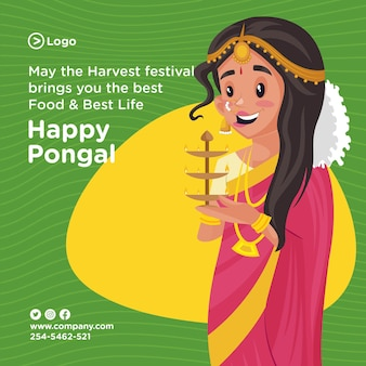 Projekt transparentu oferty happy pongal festival