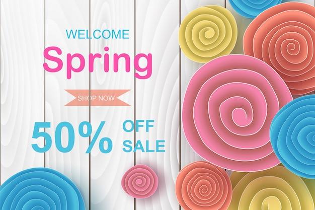 Projekt transparentu sprzedaż wiosna.