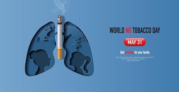 Projekt transparentu światowego dnia bez tytoniu