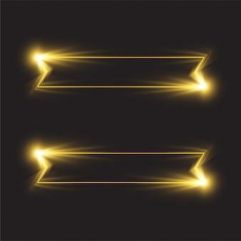 Projekt transparentu świecącej linii