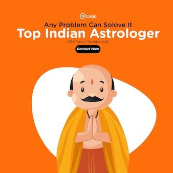 Projekt transparentu szablonu top indyjskiego astrologa