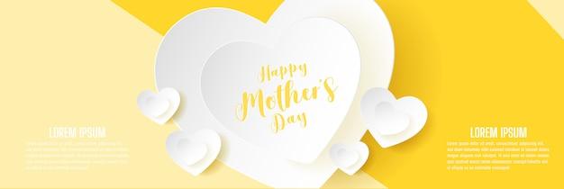 Projekt transparentu szczęśliwy dzień matki. ilustracja