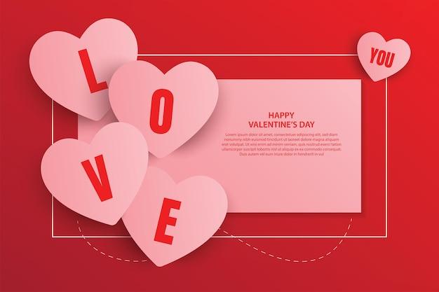 Projekt transparentu szczęśliwych walentynek. ilustracji wektorowych