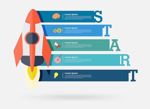 Projekt transparentu uruchomienia projektu rakiety wektorowej