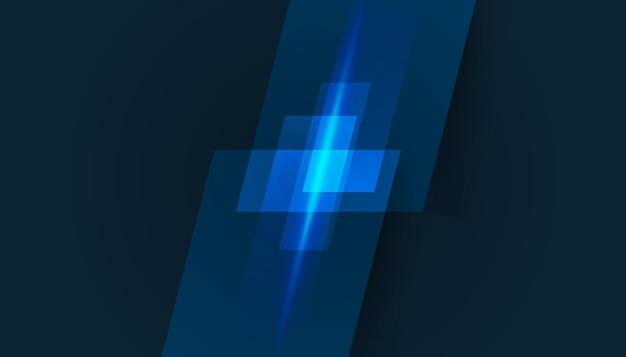 Projekt transparentu wektor, ilustracja technologii z geometrycznym wzorem na ciemnym niebieskim tle. nowoczesna koncepcja technologii cyfrowej hi tech. abstrakcyjna komunikacja internetowa, projektowanie przyszłości nauki i technologii