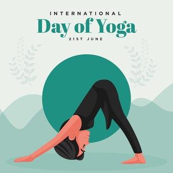 Projekt transparentu z międzynarodowego dnia jogi