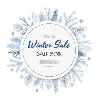 Projekt transparentu zimowej sprzedaży.