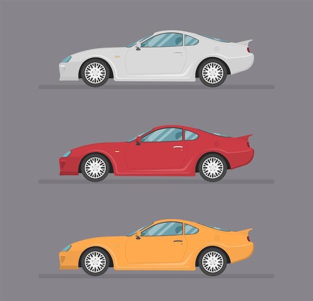 Projekt transportu płaska ilustracja na białym tle