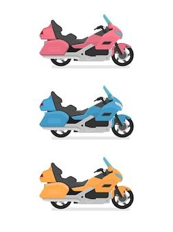 Projekt Transportu Płaska Ilustracja Na Białym Tle Premium Wektorów
