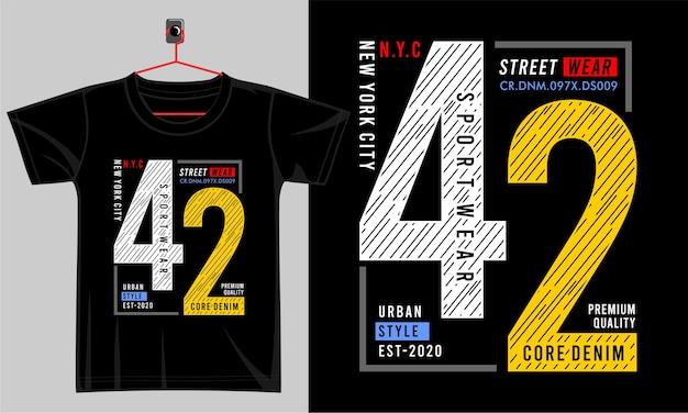 Projekt typografii dla koszulki z nadrukiem i nie tylko