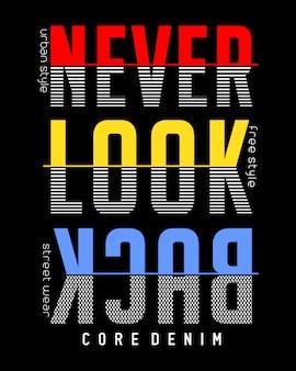 Projekt typografii do koszulki z nadrukiem