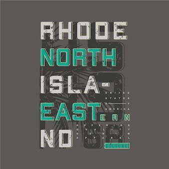 Projekt typografii graficznej rhode island