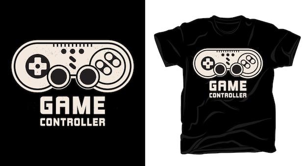 Projekt typografii kontrolera gier na t-shirt