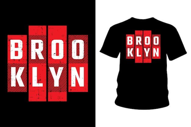 Projekt typografii koszulki brooklyn