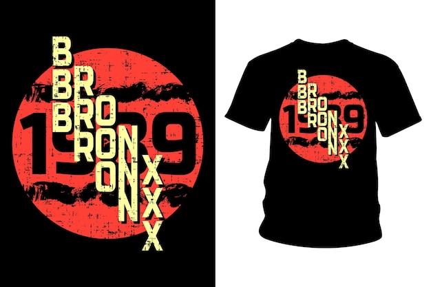 Projekt typografii koszulki tekstowej bronx