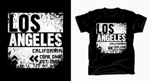 Projekt typografii los angeles w kalifornii na t-shirt