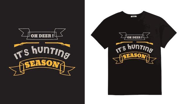 Projekt typografii myśliwskiej na koszulkę