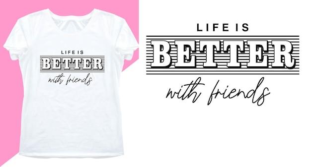 Projekt typografii na koszulkę z nadrukiem i nie tylko