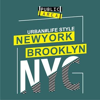 Projekt typografii new york