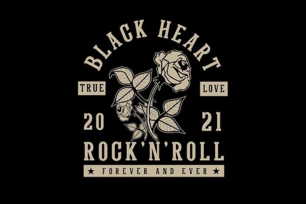 Projekt typografii rock and rolla