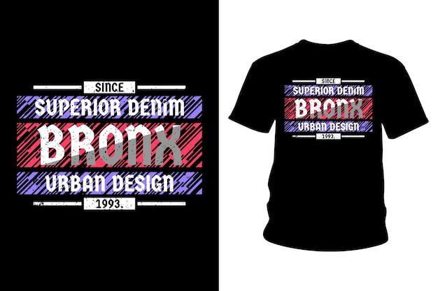 Projekt typografii streszczenie t shirt bronx